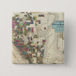 City Of Seattle And Environs 15 Cm Square Badge