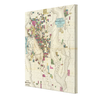 City Of Seattle And Environs Canvas Print