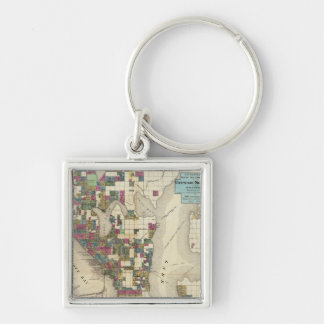 City Of Seattle And Environs Keychains