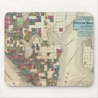 City Of Seattle And Environs Mouse Mat