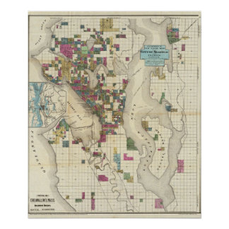 City Of Seattle And Environs Poster