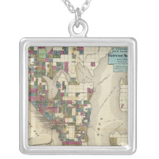 City Of Seattle And Environs Silver Plated Necklace
