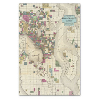 City Of Seattle And Environs Tissue Paper
