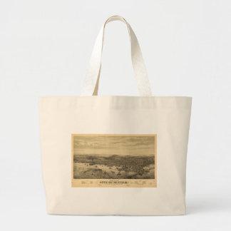 City of Seattle Puget Sound Washington Map (1878) Jumbo Tote Bag