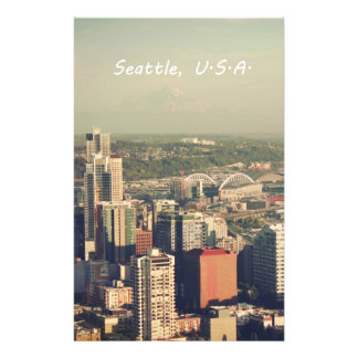 City of Seattle. View from city tower. Landscape Custom Flyer