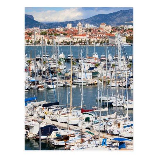 City of Split Marina in Croatia Postcard