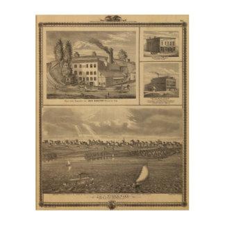 City of Storm Lake brewery, Muscatine bldg Wood Print
