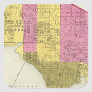 City of Washington 2 Square Sticker