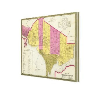 City of Washington 3 Canvas Print