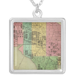 City of Washington 3 Silver Plated Necklace