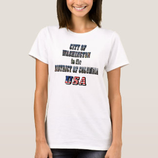 City of Washington in the District of Columbia USA T-Shirt