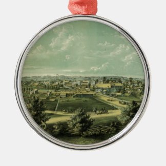 City of Waukesha Wisconsin from 1857 Christmas Ornament