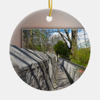 City of York, city walls. Christmas Ornament