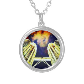 City On Fire Round Necklace