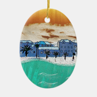 City on the sea Supetar Christmas Ornament