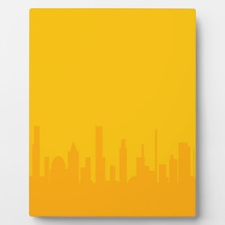 City Orangescape Photo Plaque