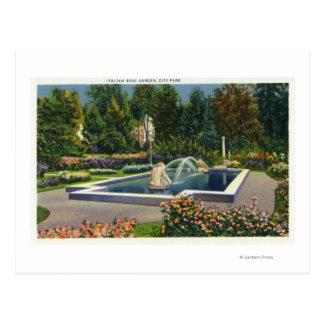 City Park Italian Rose Garden View Postcard