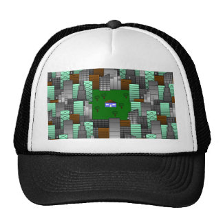 City Pattern with Little House Cap