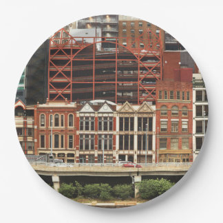 City - Pittsburg Pa - Fort Pitt Blvd 9 Inch Paper Plate