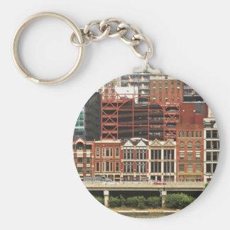 City - Pittsburg Pa - Fort Pitt Blvd Basic Round Button Key Ring