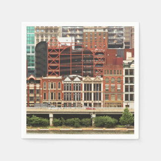 City - Pittsburg Pa - Fort Pitt Blvd Disposable Napkins