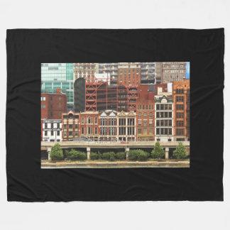 City - Pittsburg Pa - Fort Pitt Blvd Fleece Blanket
