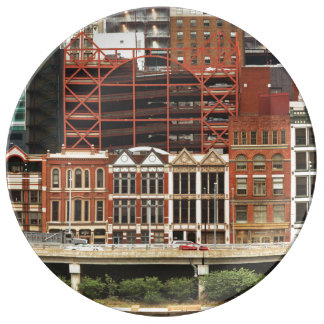 City - Pittsburg Pa - Fort Pitt Blvd Porcelain Plates