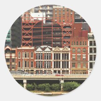 City - Pittsburg Pa - Fort Pitt Blvd Round Sticker