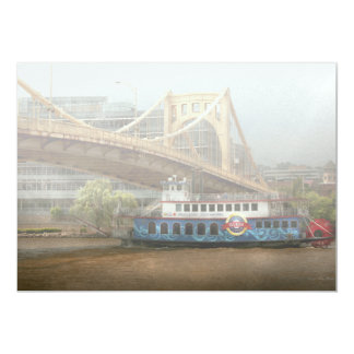 City - Pittsburg PA - Great memories 13 Cm X 18 Cm Invitation Card