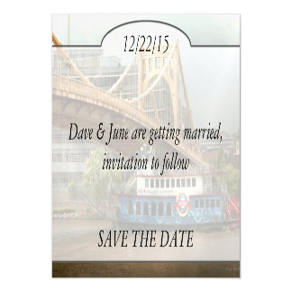City - Pittsburg PA - Great memories Magnetic Invitations