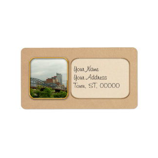City - Pittsburg PA - The grand city of Pittsburg Address Label