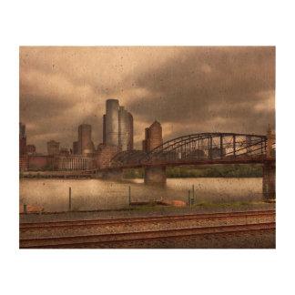 City - Pittsburgh, PA - Smithfield Bridge Cork Paper