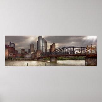 City - Pittsburgh, PA - Smithfield Bridge Poster