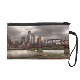 City - Pittsburgh, PA - Smithfield Bridge Wristlet Purses