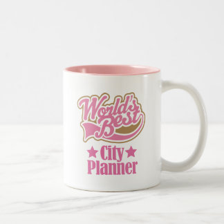 City Planner Gift (Worlds Best) Two-Tone Mug