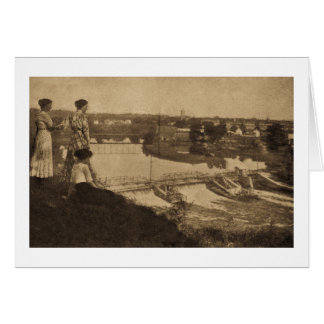 City Power Dam, Allegan, Michigan Greeting Card