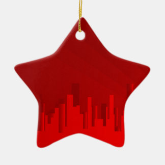 City Redscape Ceramic Star Decoration