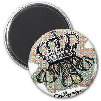 City Royalty Fleurdelis 6 Cm Round Magnet