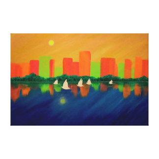"City Sails -60"" x 40"" Wall Canvas"
