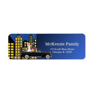 City scape Bachelorette party Return Address Label