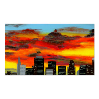 City Scape San Francisco Business Card Template