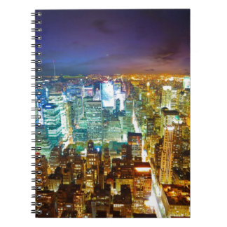city scape spiral note books