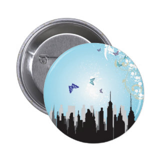 City Scene 6 Cm Round Badge