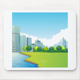 City scene mouse pad