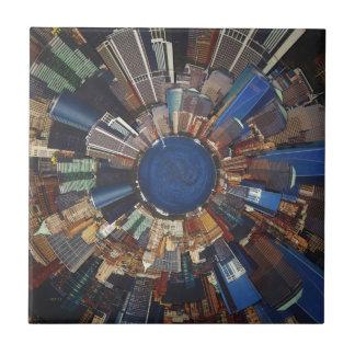 City Scene Surround Small Square Tile