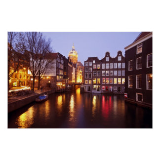 City scenic from Amsterdam the Netherlands Poster
