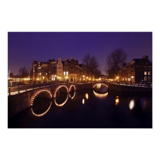 City scenic in Amsterdam Netherlands Print