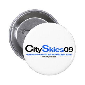 City Skies 09 Logo Pin Button
