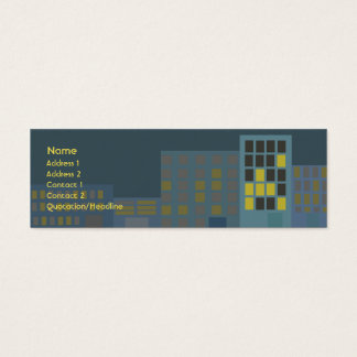 City - Skinny Mini Business Card