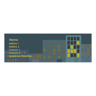 City - Skinny Pack Of Skinny Business Cards